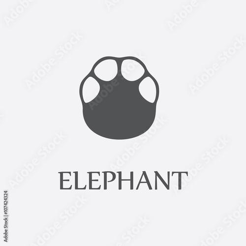 Photo  Elephant print black simple icon for web design.