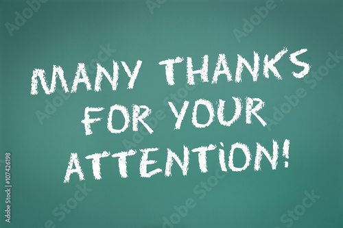 Many Thanks for your Attention! - Buy this stock illustration and ...