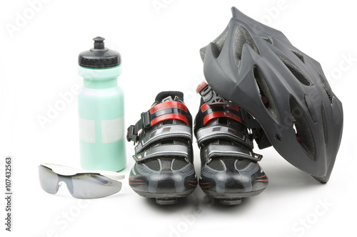 Foto op Aluminium Fietsen sports equipment cycling / set of racing accessories for cycling