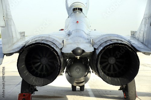 Photo  Two engine fighter jet