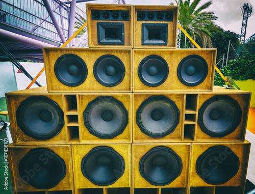 Cuadros en Lienzo tropical sound system