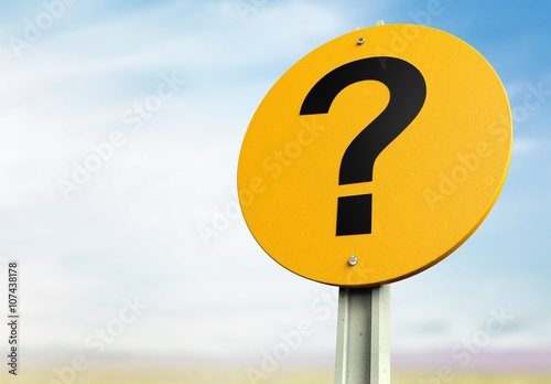 Fotografie, Obraz  Question Mark.