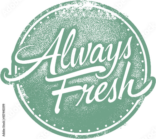 Photo  Always Fresh Food Product Label Stamp