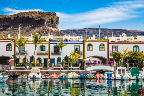 Canvas Prints Canary Islands Port In Puerto de Mogan, Gran Canaria, Spain