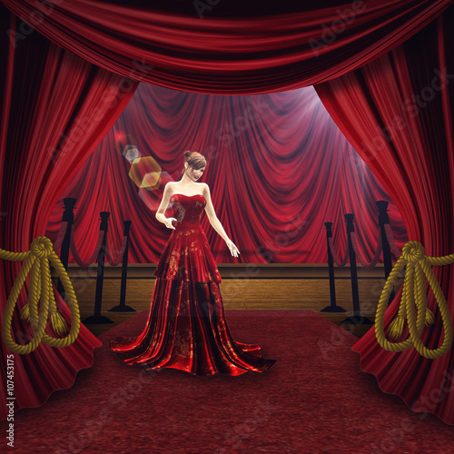 Photo  Woman on Theater Stage