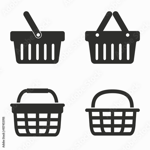 Shopping basket  vector icons. Slika na platnu