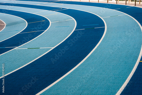 fototapeta na szkło stade athlétisme virage piste