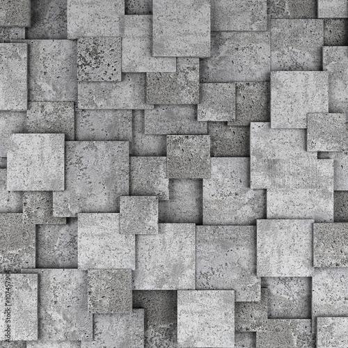 Obraz Betonowy ściana 3D - fototapety do salonu