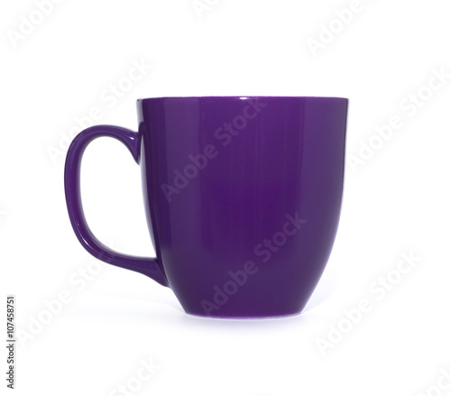 purple cup on a white background