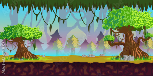 Photo Stands Turquoise Forest Game Background