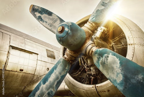 Tuinposter Bestsellers old airplane