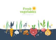 Vegetables Garden Background