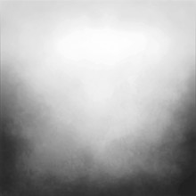 Black And White Vector Background With Cloudy White Center And Gradient Black Grunge Texture On Bottom Border, Silver Gray Background With Black Corners