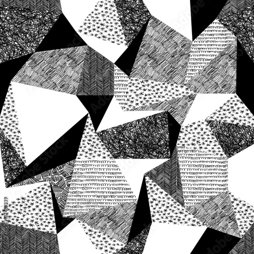 Foto  Geometric seamless pattern in retro style. Vintage background.Tr