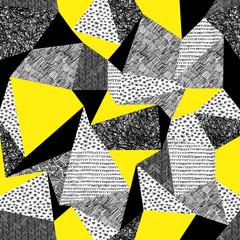 Obraz na PlexiGeometric seamless pattern in retro style. Vintage background.Tr