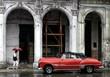 Havana, Cuba. Old classic American car on street of Havanna.
