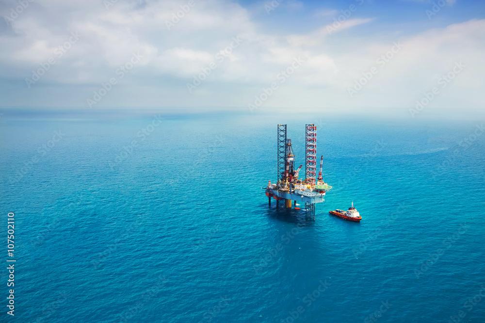 Fototapety, obrazy: Oil rig in the gulf