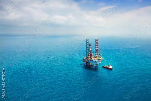 Fotografía Oil rig in the gulf