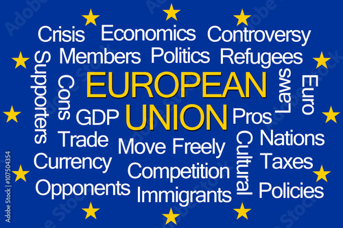 Fotografie, Obraz  European Union Word Cloud