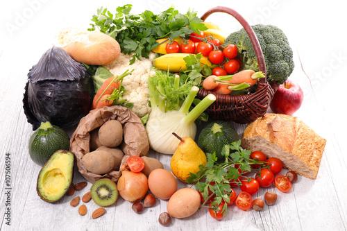 Keuken foto achterwand Groenten assortment of fruit,vegetable,healthy food