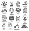 Business project planning icons