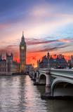 Fototapeta Londyn - Sonnenuntergang über dem Big Ben in London