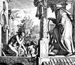 canvas print picture - David Covets Bathsheba 1) Sacred-biblical history of the old and New Testament. two Hundred and forty images Ed. 3. St. Petersburg, 2) 1873. 3) Russia 4) Julius Schnorr von Carolsfeld