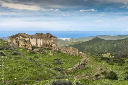 Abandoned Mine of Gennamari, Arbus, Sardinia, Italy Canvas Print