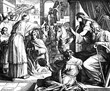 canvas print picture - Solomon Named to Succeed David 1) Sacred-biblical history of the old and New Testament. two Hundred and forty images Ed. 3. St. Petersburg, 2) 1873. 3) Russia 4) Julius Schnorr von Carolsfeld