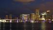 night light sunset miami city downtown panorama 4k time lapse florida usa