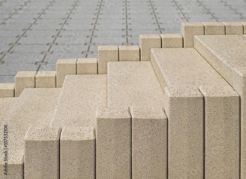 Neue Kunststeintreppe Im Aussenbereich Aus Beton In Teilen