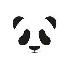 Baby Panda Face Logo Template....