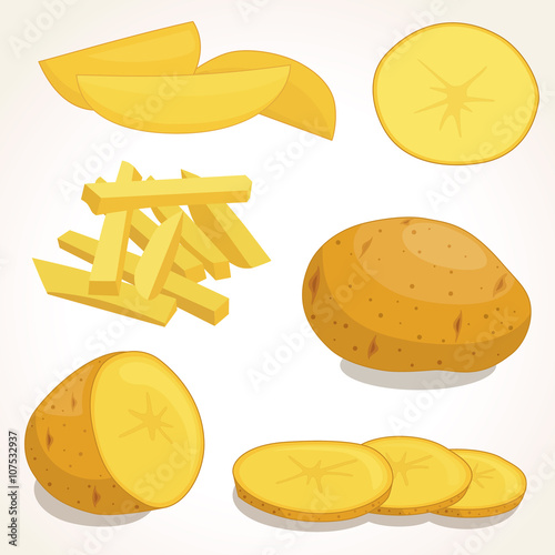 Cuadros en Lienzo Potatoes vector illustration isolated on background