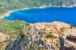 Coastal Rocks and sea in summer day, Corsica