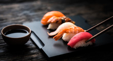 Close Up Of Sashimi Sushi Set ...