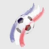 Fussball - Farben - Frankreich