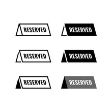Reserved Table Icon. Black And...