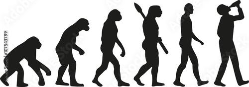 Evolution of drinking man Canvas Print
