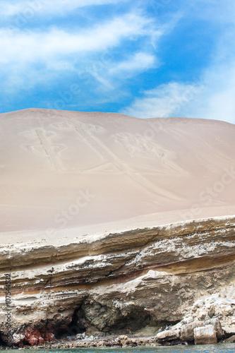 Fotobehang Leeuw El Candelabro, Ballestas Islands, Peru, South America