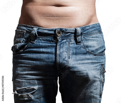 relief a erection in jeans Fotobehang
