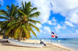 Leinwandbild Motiv Caribbean beach in Dominican Republic