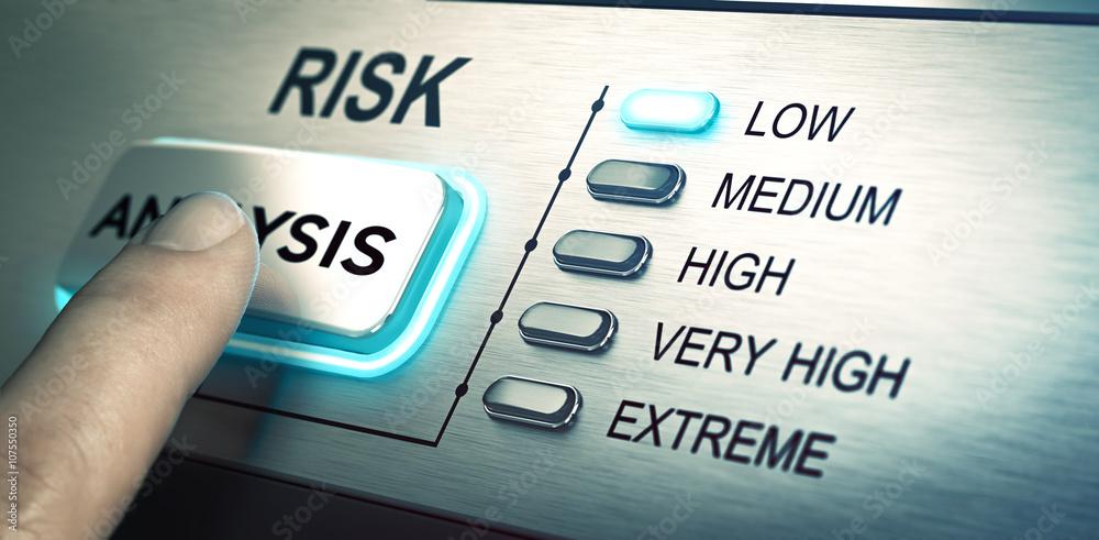 Fototapeta Risks analyze, low risk