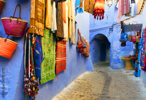 Poster Maroc Medina of Chefchaouen, Morocco, Africa