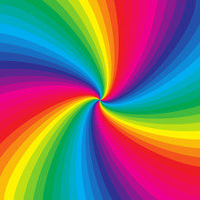 Rainbow Colorful Spiral Background, Vector Illustration