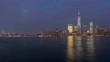 night light new york manhattan freedom tower jercey panorama 4k time lapse usa