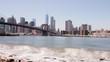 brooklyn bridge park bay summer river manhattan view 4k time lapse usa