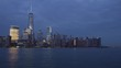 jersey city pier new york manhattan night sunset panorama 4k time lapse usa