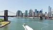 summer light brooklyn bridge manhattan panorama 4k time lapse usa