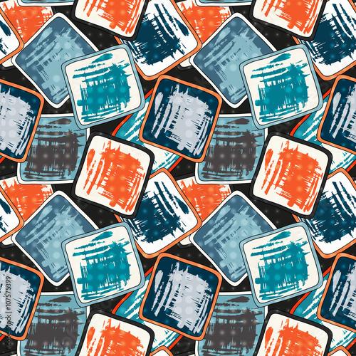 Foto op Aluminium Graffiti beautiful abstract seamless pattern graffiti grunge texture