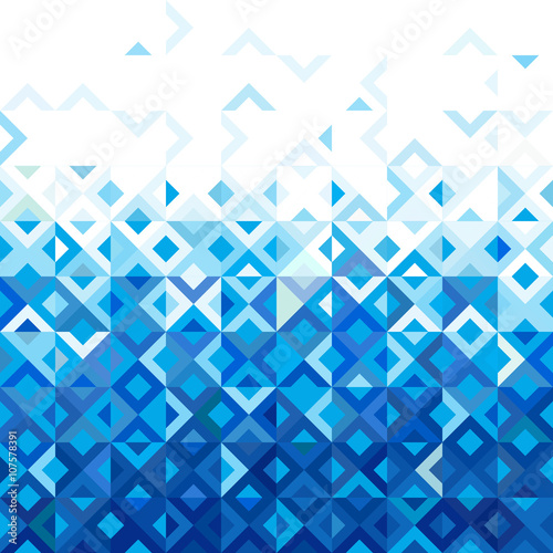 Abstract mosaic mix geometric pattern design, blue tone of color